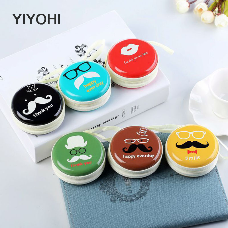 YIYOHI Women Children Kawaii Emoji Mini Bag Cartoon Coin Purse kids Girls Wallet Earphone Box Bags  Wedding Gift  Christmas Gift