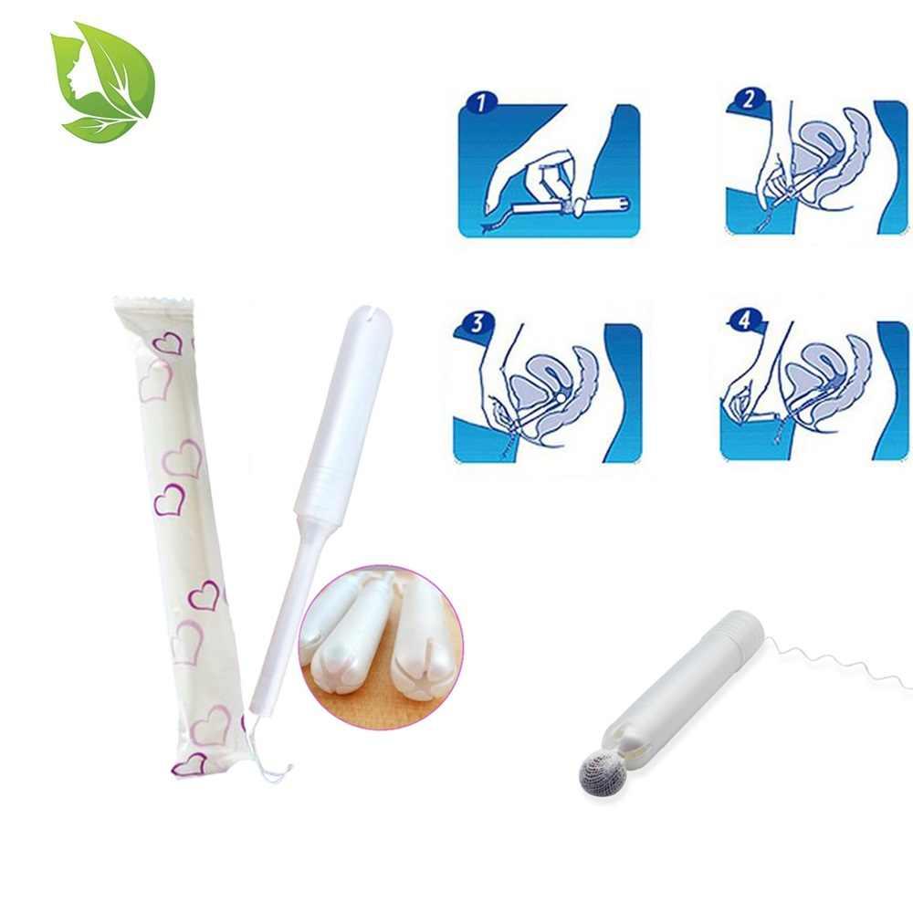 100 pcs Riutilizzabile Yoni Detox perle Applicatore di Prodotti Per L'igiene femminile Vaginale Cura Tamponi Plastica Applicatore Tubo