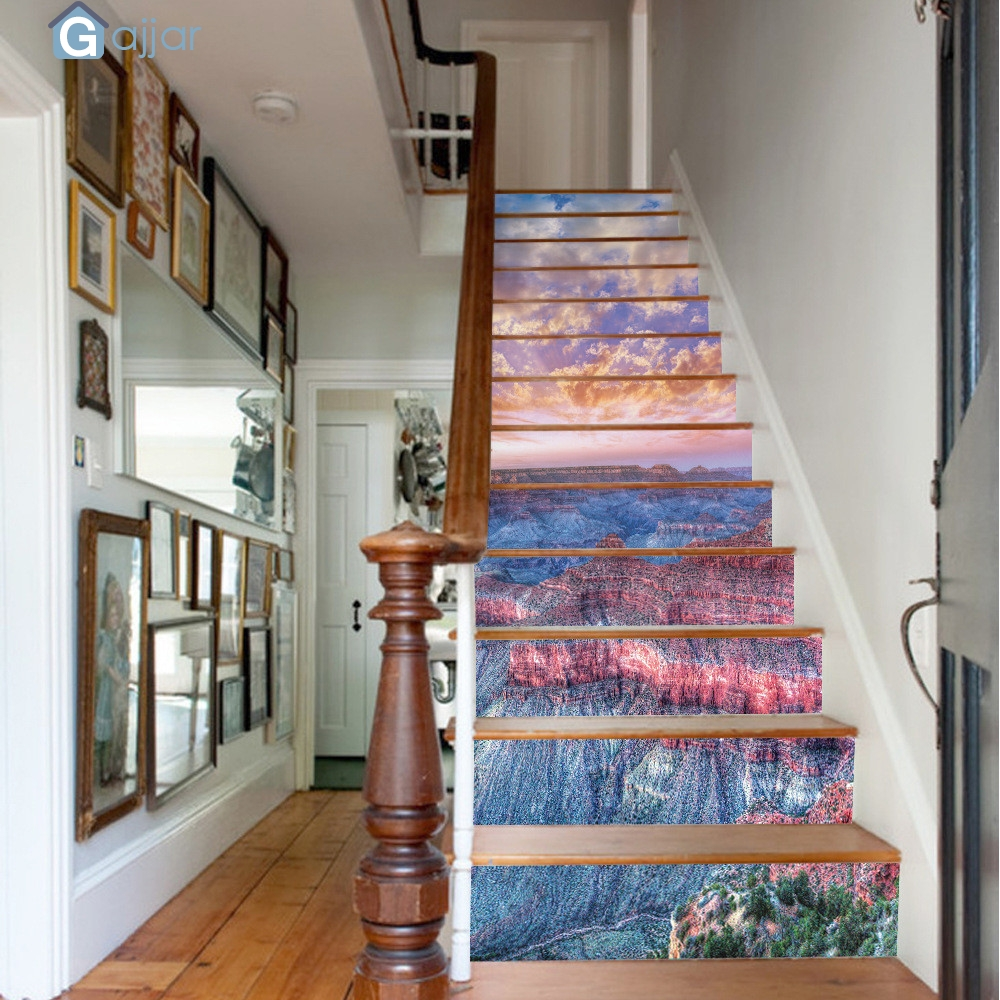 KAKUDER Wall Stickers Home DIY Steps Sticker Removable Stair Sticker Home Decor Ceramic Tiles Patterns Stickers DropshipingSep12