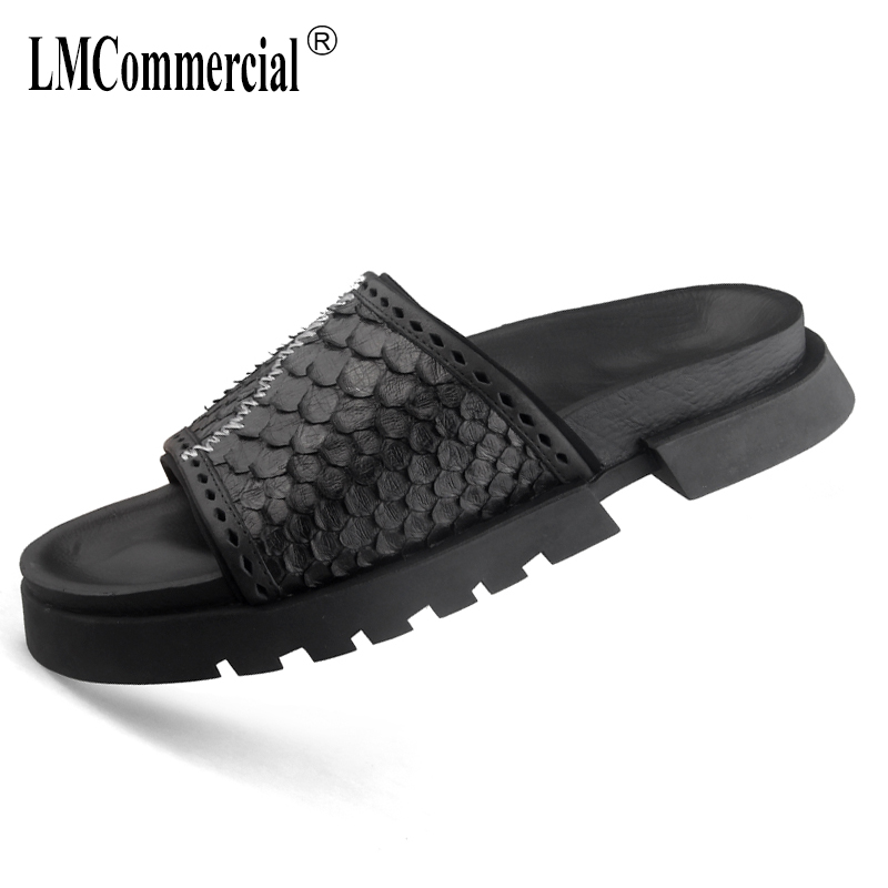 summer Genuine Leather Shoes sandals Sneakers Men Slippers Flip Flops casual Shoes beach outdoor all-match cowhide Leisure shoes summer sandals women leather breathable mesh outdoor super light flats shoes all match casual shoes aa40140