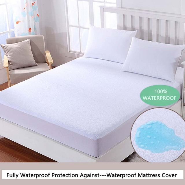 Russian ALL Size Terry Mattress Pad Waterproof Anti Mite Bed Fitted Sheet  Bed Bug Proof