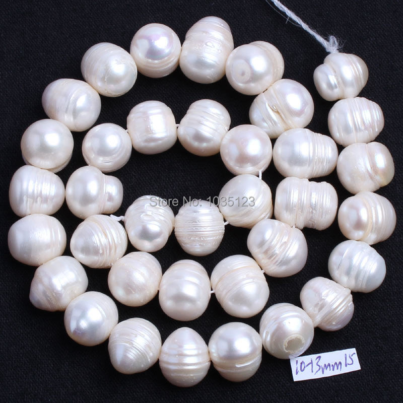 Free Shipping 10-12mm Natural White Freshwater Pearl Irregular Shape Loose Beads Strand 15 DIY Creative Jewellery Making w738