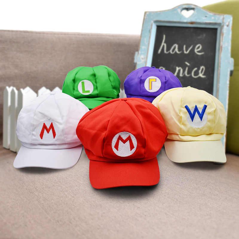 d7cfbb49237732 27cm 11'' Anime Super Mario Hat Cap Luigi Bros Cosplay Baseball Costume  Cappy Hat