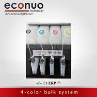 Горячая Распродажа! 4-основная система бутылки типа 4tanks 4 картриджей для широкоформатных струйный принтер