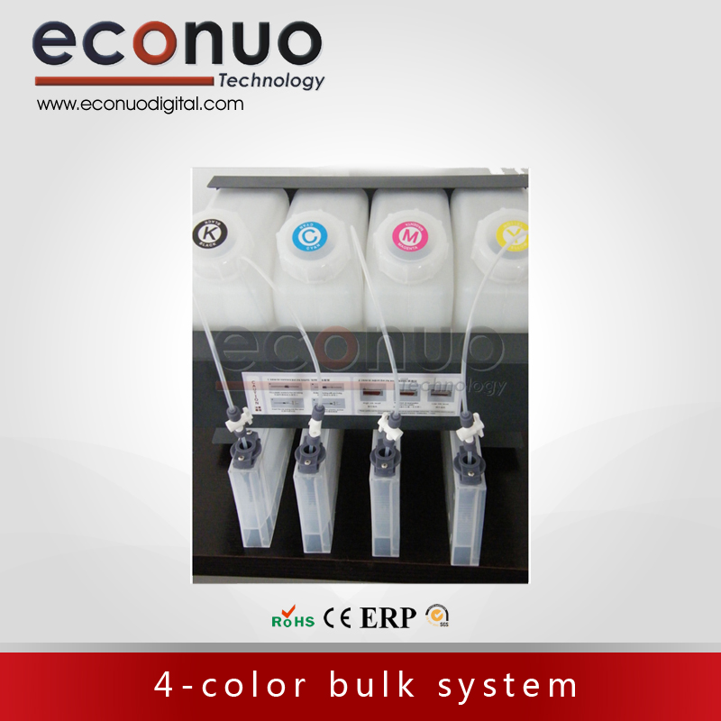 Hot sales!!! 4-color bulk system bottle type 4 tanks+4 cartridges for large format inkjet printer hot sale inkjet printer belt for wit color flora titanjet bemajet large format printer spare part