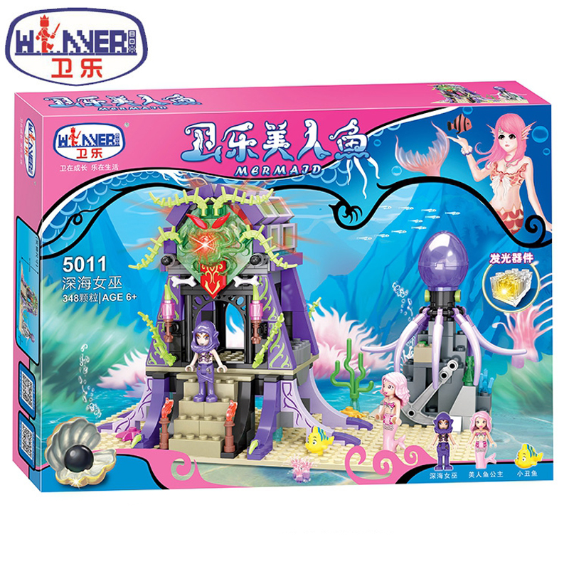 Winner 5011 Mermaid Series Deep Sea Witch Building Blocks Educational Toys Bricks Develop imagination Children's Holiday Gifts sermoido 02012 774pcs city series deep sea exploration vessel children educational building blocks bricks toys model gift 60095