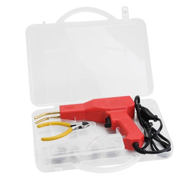 Soldador de plásticos profesional, herramientas de garaje, grapadora en caliente, máquina de reparación de grapas, parachoques de coche, reparación, grapadora caliente