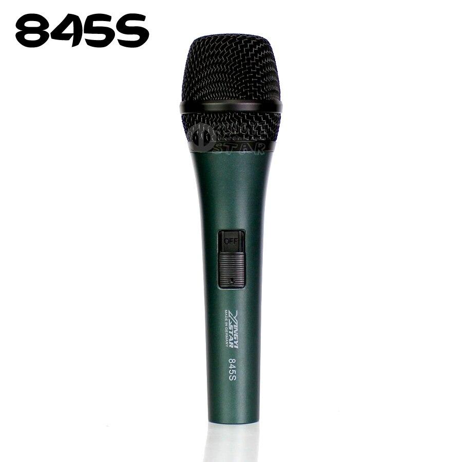 Professionnel Commutateur Supercardioïde Vocal Microphone Dynamique Pour e845s e 845 s 845 Audio Mélangeur Karaoké Système Stade Chanteur