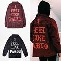 Новый 2017 Весна Kanye West Куртка Мужчины Модный бренд Я Чувствую, что Пабло Куртка Хип-Хоп Мужской Ветровка Полиэстер Тонкий пальто