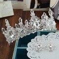 Европейский невеста королева барокко горный хрусталь волосы корона принцесса головной убор hairband аксессуары