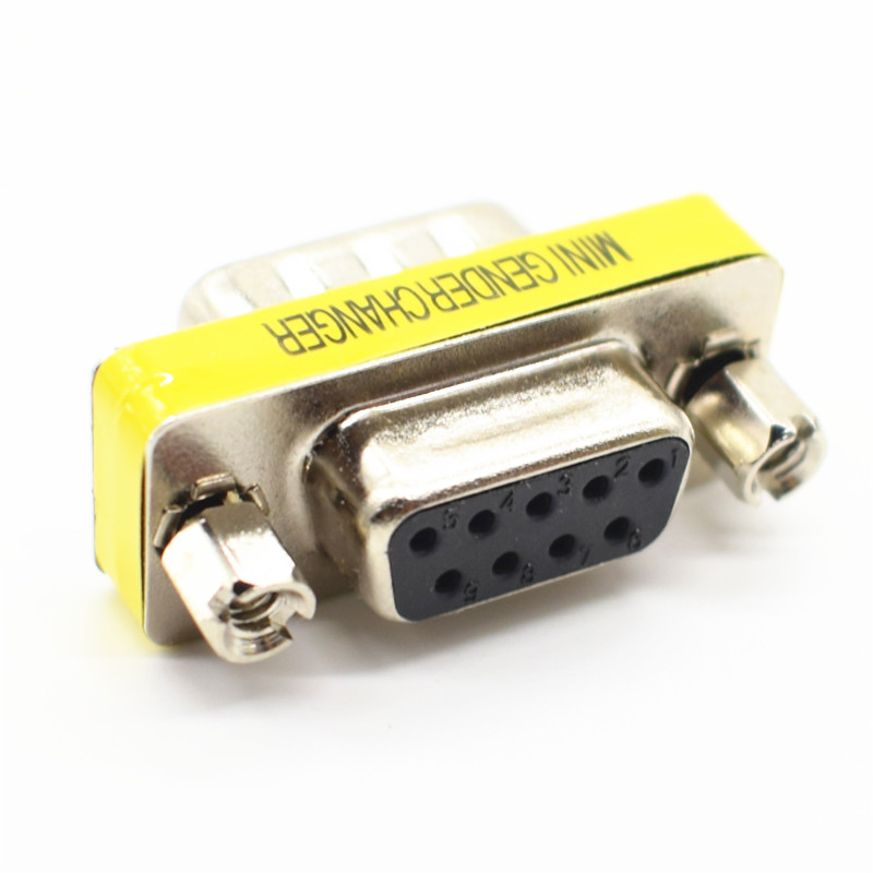 DB9 9Pin Male To Female Mini Gender Changer Adapter RS232 Serial Connector