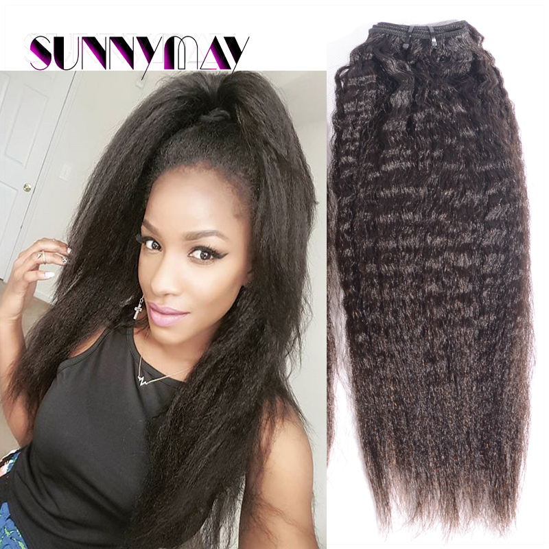 Sunnymay Hair Products 100 Kinky Straight Weave Peruvian Virgin
