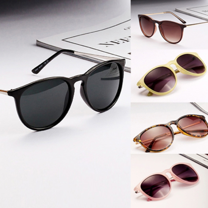 Moda Óculos de Sol para Mulheres Homens Retro Óculos Redondos Metal Frame  Perna Óculos 5 Cores Dos Óculos De Sol 2fa3fef43f