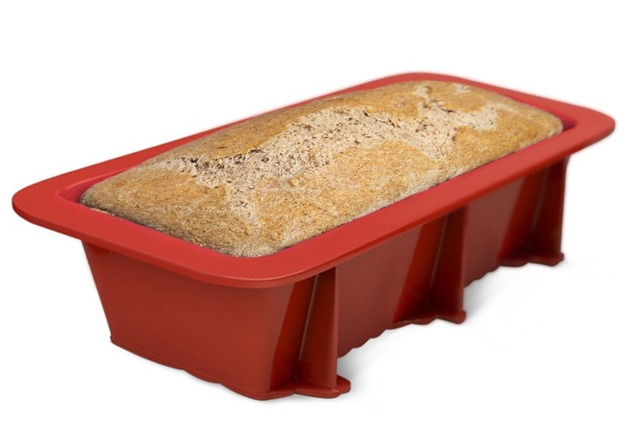 Non stick cake, bread, loaf mold bakeware. One piece large toast french bread loaf pan baking mold. Silicone pan.