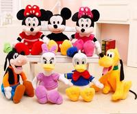 30 40cm High Quality Cute Minnie Doll Mickey Mouse Pato Donald Daisy Plute Goofy Plush Toys