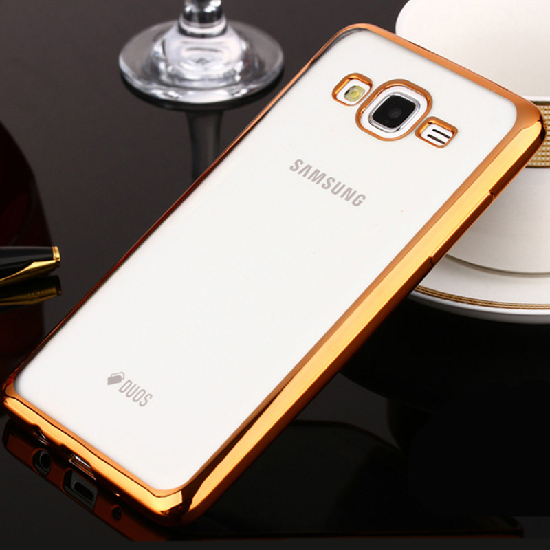 Phone Case For Samsung Galaxy J1 Ace Ultra Thin Clear Plating Electroplating TPU Soft Mobile Phone Cases Cover For Samsung J110