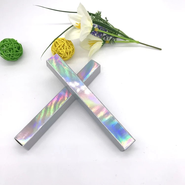 100 шт-Д * Ш * В. 1,6*1,6*14,5 см серебряный/золотой/черный карандаш для глаз упаковочная бумажная коробка губная помада ручка упаковочная коробка