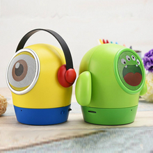 Small yellow man Bluetooth speaker cartoon mini Portable Wireless support u disk TF card subwoofer bluetooth line array speakers(China)