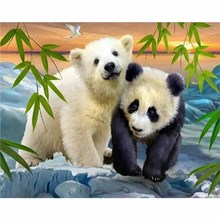 DIY panda bear Diamond Painting full round diamond painting 5D Mosaic Cross Stitch Embroidery