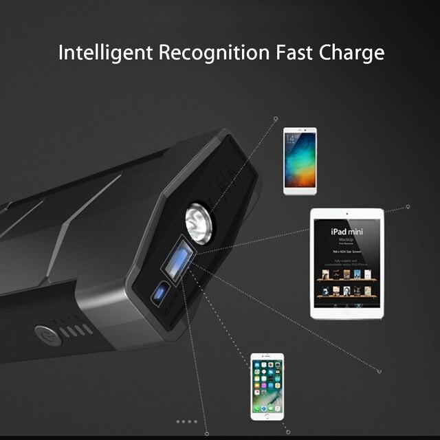 Chargeur USB multifonction 12V | Démarreur de saut de voiture, 400A Portable, chargeur de batterie, Booster de batterie, dispositif de démarrage automatique externe
