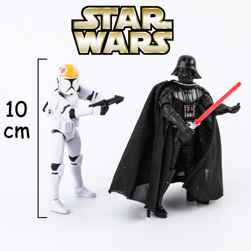 10cm Hot Star Wars Action Figures Darth Vader Stormtrooper Plastic PVC Toys for Children Home Decor Birthday Present Dolls Toy