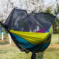 NEW ARRIVAL Mosquito Bug Net For Hammock Parachute Fabric Portable Ultralight With Folding Bag Indoor Outdoor