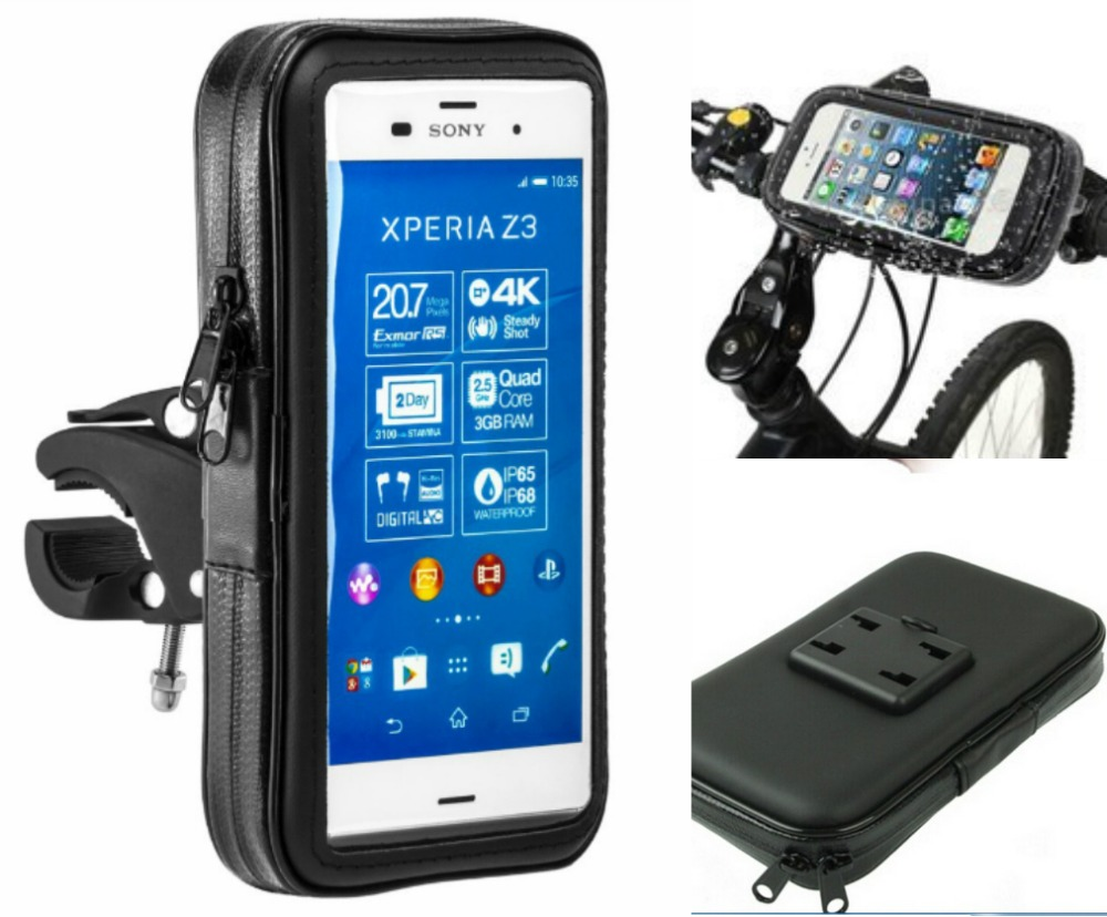 new product 222e8 b2dbf US $14.88 |Bike Motor Waterproof Mobile Phone Case Bag Holder for m4 aqua  z4 z5 5 5.5 inch Universal Motorcycle Bicycle Pouch N-in Mobile Phone ...