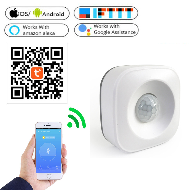 Smart Life WiFi PIR Motion Sensor For Smart Home Security Real Time Monitoring Support Alexa Google Home Sensitive Detection
