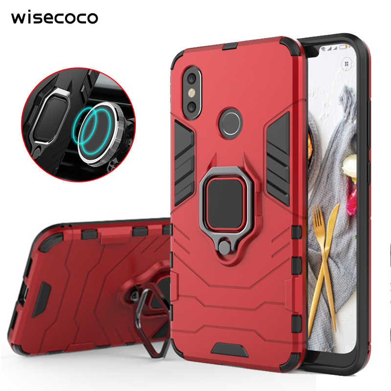 Shockproof Armor Case for Xiaomi Mi 9 8 se A1 5x A2 6x Magnetic Holder Car Ring Stand Hard Cover Xiomi Redmi k20 Note 4x 5 Pro