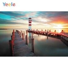 Yeele Seascape Lighthouse Tiny Port Sunset Nice Sky Photography Backdrops Personalized Photographic Backgrounds For Photo Studio