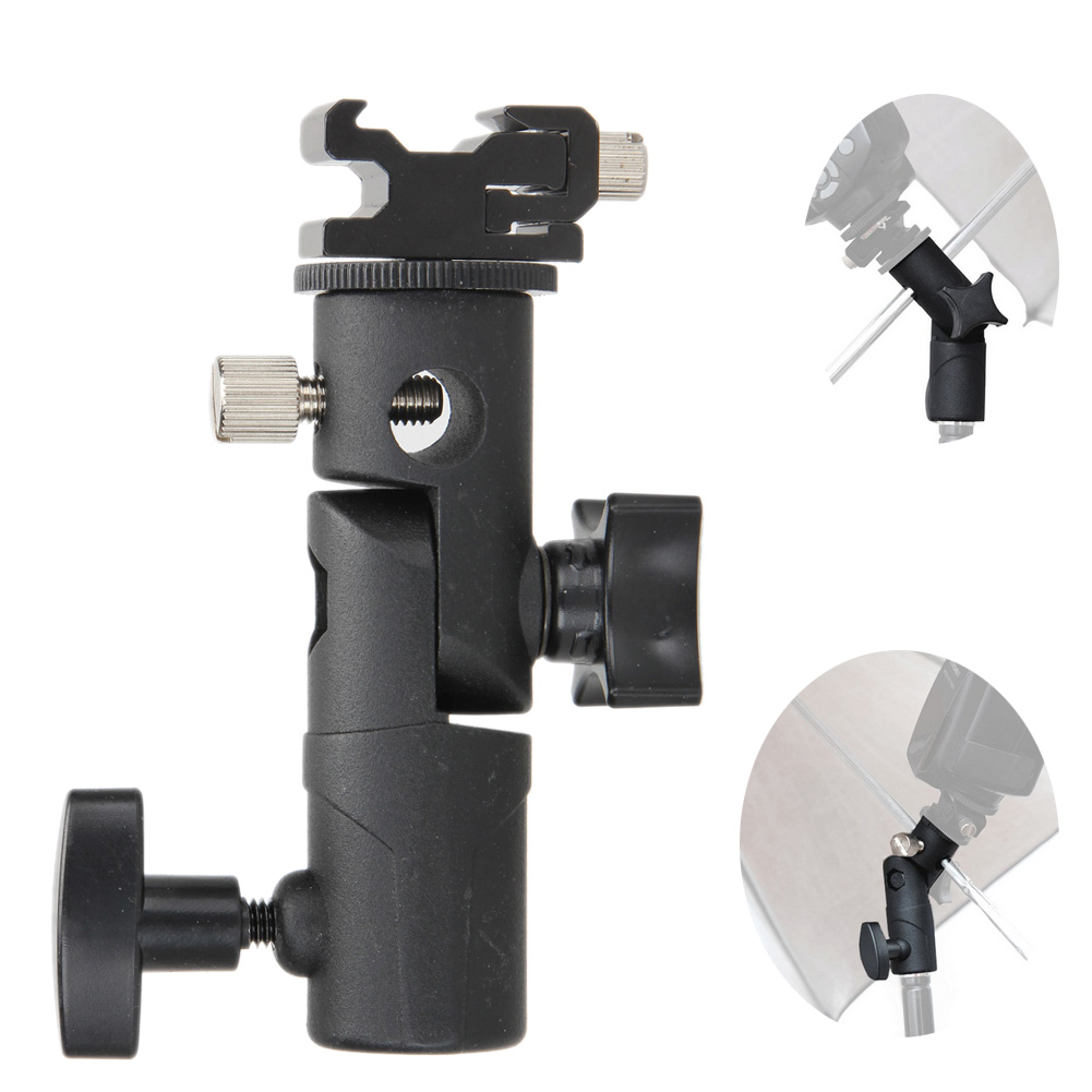 Camera Swivel Flash Bracket Shoe Umbrella Holder Swivel Light Stand Adapter Photo Studio Accessories for Studio Bracket Type E 2014 sale 4ch onvif full hd 48v real poe 80 100m nvr kits with 720p varifocal 2 8 12mm lens ip cameras p2p cloud service