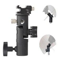Foto acessórios da câmera giratória flash suporte de sapato suporte guarda chuva estúdio luz giratória suporte adaptador para guarda chuva e tipo