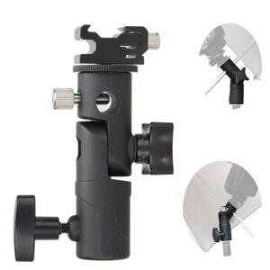 Image 1 - Foto acessórios da câmera giratória flash suporte de sapato suporte guarda chuva estúdio luz giratória suporte adaptador para guarda chuva e tipo