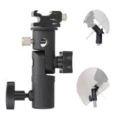 Fotoğraf aksesuarları kamera döner flaş braketi ayakkabı şemsiye tutucu stüdyo döner işık standı adaptörü şemsiye braketi E tipi