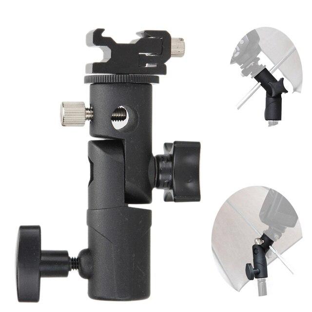 Photo Accessories Camera Swivel Flash Bracket Shoe Umbrella Holder Studio Swivel Light Stand Adapter for Umbrella Bracket E Type