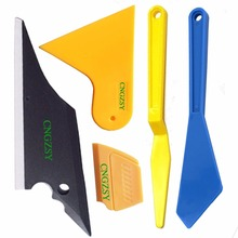 5pcs Car Window Tint Tool Kit For Auto Film Tinting Scraper Application Installation Triangle Rubber Corner Squeegee Tools K28
