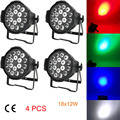 4 Шт. 18x12 W LED Par Свет RGBW Дискотека Этап Свет Лампы Luces Дискотека Дискотека Луч luz de проектор Lumiere Контроллер Dmx