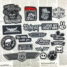20 kinds Skull logo  Cartoon embroidery sticker Patch decorative paste All of clothing, shoes and hats decoration