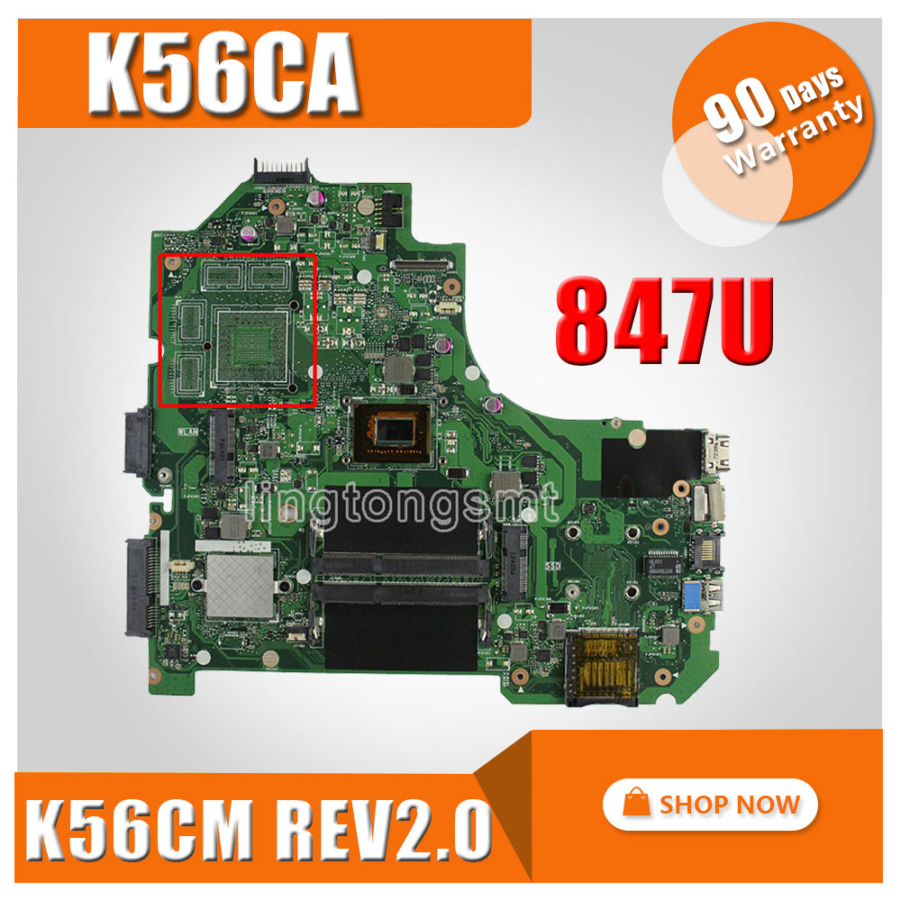 Original for ASUS S550CA K56CM K56CA motherboard REV2.0 847 CPU integrated Fully tested Mainboard 100% working for asus x55vdr motherboard 4g ram i3 cpu rev3 1 100% tested integrated original new motherboard