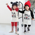 baby sets boys girls cute cartoon mouse long sleeved T-shirt pants sets baby cotton shirt+trousers 2PCS