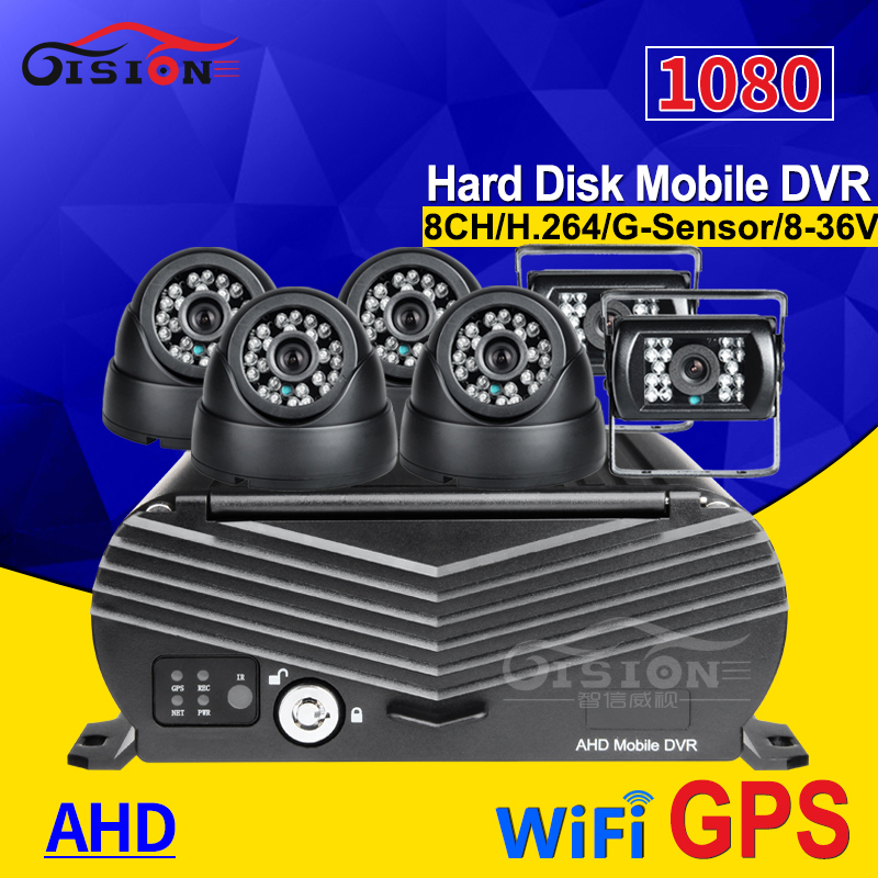 WIFI+GPS 8CH AHD HDD Hard Disk Vehicle Mobile Dvr With 6PCS 2.0MP 3.6MM HD Camera Remote Real Time Video I/O Alarm Software FreeWIFI+GPS 8CH AHD HDD Hard Disk Vehicle Mobile Dvr With 6PCS 2.0MP 3.6MM HD Camera Remote Real Time Video I/O Alarm Software Free
