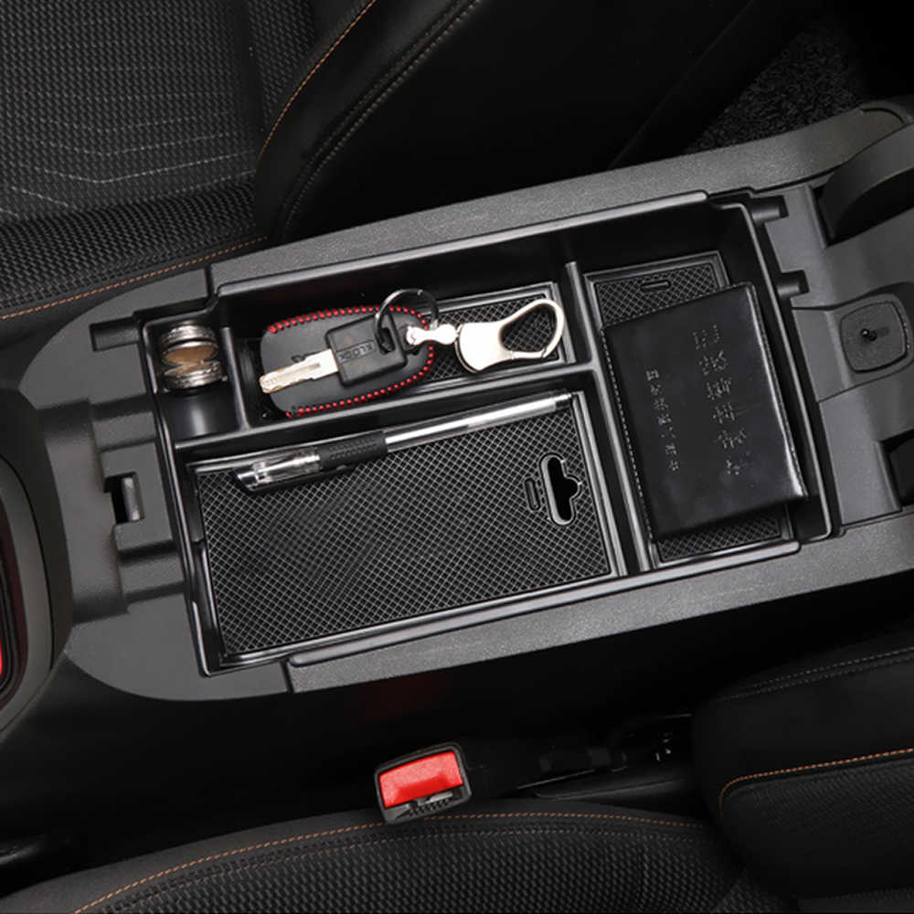 Car Center Console Organizer Tray for Chevrolet Equinox Armrest Secondary Storage Box Container