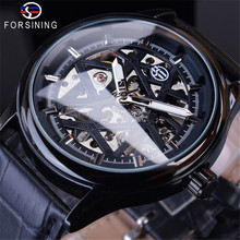 FORSINING Golden Gear Movement Classic Watch Fashion Sport Mens Mechanical Wrist Watches Top Brand Luxury Male Clock Relogio