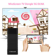 MiraScreen 5G TV Stick Dongle 5G DLNA Airplay HDMI Miracast Air Mirroring High Speed Transmission WiFi Wireless Display Receiver