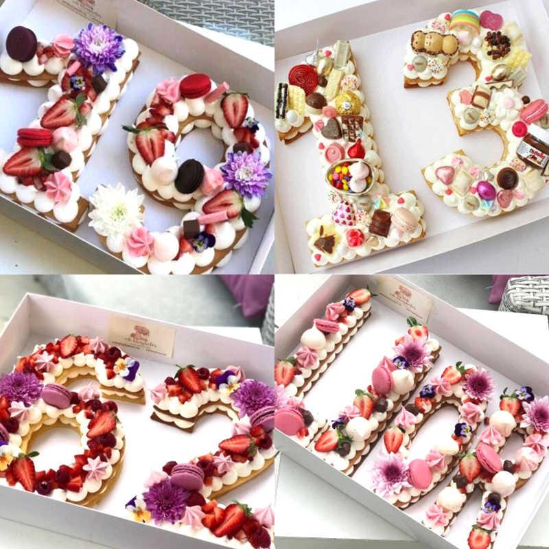 Delidge 0-8 البلاستيك الأبجدية عدد كعكة قوالب قالب الكعكة تزيين أدوات فندان الزفاف عيد ميلاد الخبز كعكة الملحقات