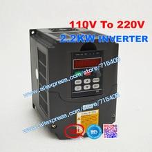 2.2kw VFD Raising the voltage Inverter input voltage 110V to 220V Inverter 2.2kW VFD  and Control Mode SPWM + Potentiometer Knob 2 2kw vfd inverter