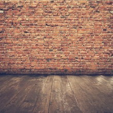 Laeacco Old Fade Brick Wall Wooden Floor Portrait Photography Backgrounds Customized Photographic Backdrops For Photo Studio 12ft vinyl cloth dark old brick wall wood floor photo studio backgrounds for model newborn portrait photography backdrops f 257