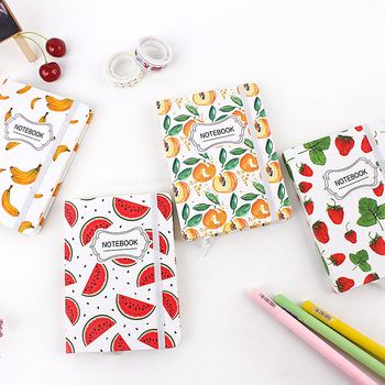 Fruit Time Cute Lined Notepad Journal Hard Cover Study Diary Notebook Travel Journal Stationery Gift be happy hard cover notebook lined papers journal study diary notepad stationery gift black color