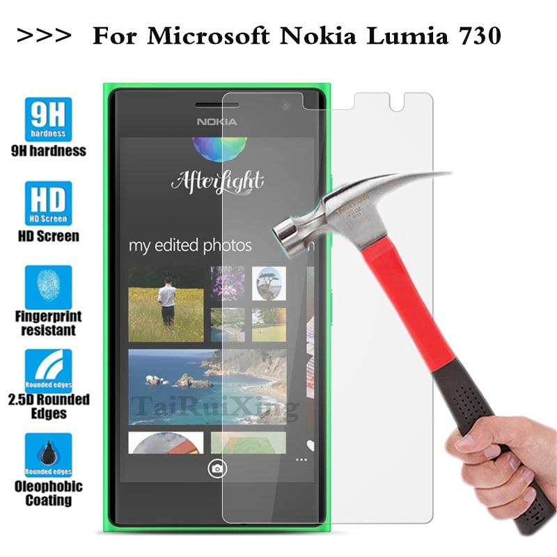 (Tairuixing) экран протектор фильм 0.3 мм 9 H 25D Передняя Премиум Закаленное Стекло для Nokia Microsoft Lumia 730 735 N730 N735