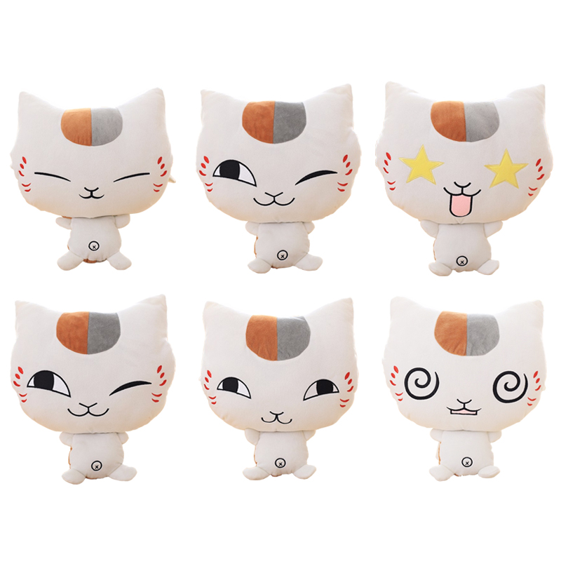 1pc 40cm Natsume Yuujinchou Nyanko Sensei Plush Cat Anime Doll Stuffed Hand Warmer Christmas Gift for Girls new hot 16cm natsume yuujinchou cat nyanko sensei action figure toys collection christmas gift